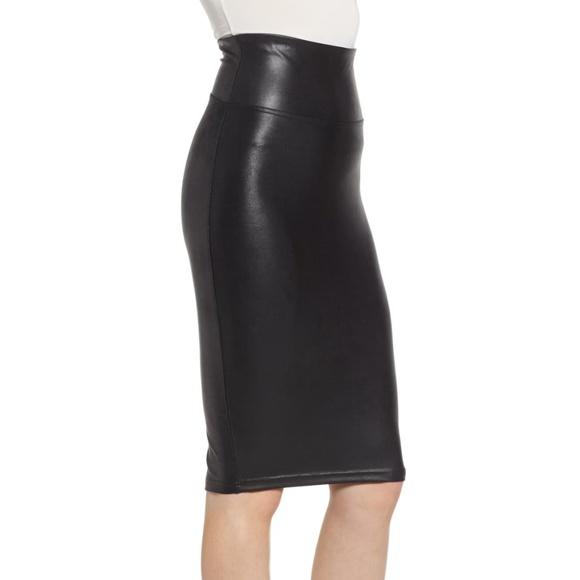 f1ff13c13 SPANX Skirts | Faux Leather Ize Small | Poshmark